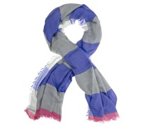 Schal Ranja in Blau/Grau