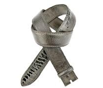Reptile´s House Gürtel aus Straußenleder matt in Grau 4 cm