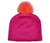 cute stuff Beanie in Pink mit Fellbommel