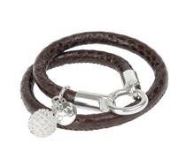 Lederarmband SNAKE IT in Braun