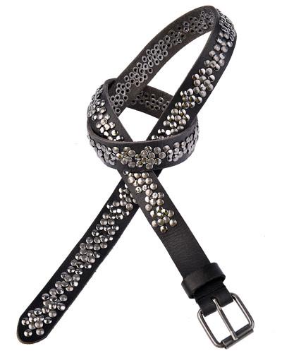 Nietengürtel inkl. Schließe 2,5 cm in Schwarz