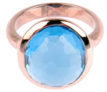 Ring DROP in Roségold mit Skyblue Edelstein