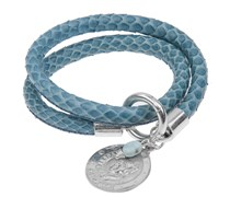Lederarmband SNAKE IT in Blau
