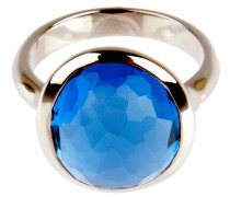 Ring DROP in Silber mit Skyblue Edelstein