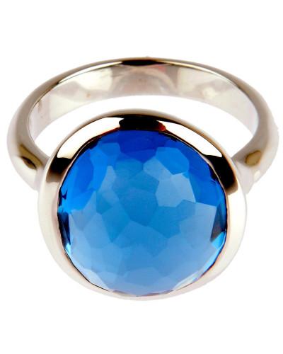 Ring DROP in Silber mit Skyblue Edelstein