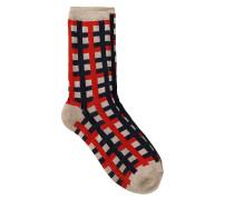 Socken Dean Check Rot