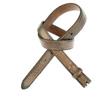 Pythonledergürtel RUM Metal in Bronze 2,5 cm