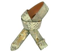 Pythongürtel Gomez 4 cm in Mint