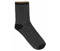 Socken Dina Small Dots Schwarz
