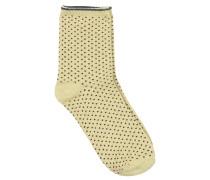 Socken Dina Dots in Gelb/Bordeaux