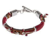 Reptile´s House Armband aus hellbraunem Leder