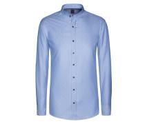 Gemustertes Freizeithemd mit Stehkragen von Tom in Blau für Herren