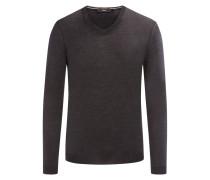 Pullover aus Merinowolle, Slim-Fit von Boss in Anthrazit für Herren