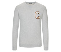 Sweatshirt mit C-Patch von Calvin Klein in Schwarz für Herren