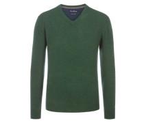 Merino/Kaschmir V-Neck Pullover von Tom Rusborg in Gruen für Herren
