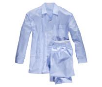 Pyjama mit Vichy-Streifen von Novila in Blau für Herren