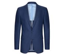 Struktur-Sakko aus reiner Schurwolle von Tom Rusborg in Blau für Herren