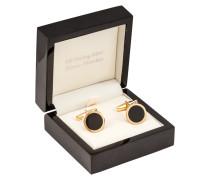 Manschettenknöpfe, Onyx, vergoldetes silber von Tom Rusborg Premium in Gold für Herren