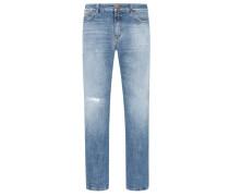 Slim Fit Jeans, Used Look von Closed in Denim für Herren
