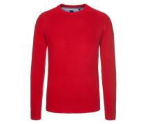 Rundhalspullover im Lammwollmix von Tom in Rot für Herren