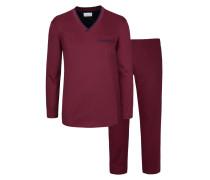 Pyjama von Novila in Bordeaux für Herren