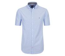 Gepunktetes Kurzarmhemd von Tommy Hilfiger in Blau für Herren