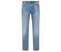 Five-Pocket-Jeans im Washed-Look, Modell 501 von Levis in Blau für Herren