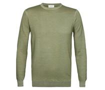 Pullover aus reiner Merinowolle  Oliv