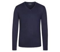 V-Neck Basic Pullover von Tom Rusborg in Marine für Herren
