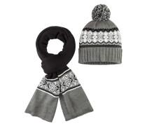 Mütze & Schal im Set von Tom Rusborg in Grau für Herren