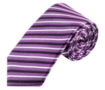 Schmale Streifen-Krawatte von Olymp in Lila für Herren