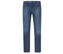 Slim Fit Jeans, Used-Look von Emporio Armani in Blau für Herren
