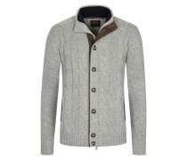 Rustikale Strickjacke aus edlem Kaschmir von Tom Rusborg Premium in Silber für Herren
