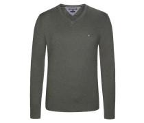 Pullover, Pima Cotton-Cashmere V-Neck von Tommy Hilfiger in Gruen für Herren