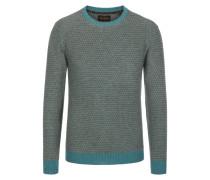 Aktueller Tricolour Pullover aus 100% Kaschmir von Tom Rusborg Premium in Tuerkis für Herren