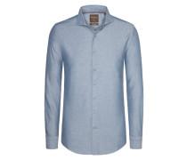 Modisches Freizeithemd, Modern-Fit von Tom Rusborg Premium in Blau für Herren