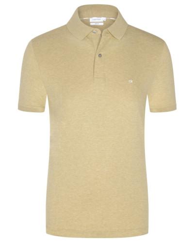 Poloshirt in Jersey-Qualität, Slim Fit in Beige