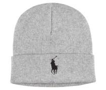Baumwoll Strick Mütze von Polo Ralph Lauren in Hellgrau für Herren