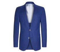 Sakko, modische Struktur, Zegna von Tom Rusborg Premium in Mittelblau für Herren