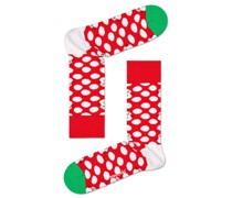 Socken mit Schneemann-Motiv