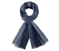 Schlichter Schal mit Streifen von Tom Rusborg in Marine für Herren