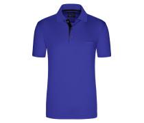 Poloshirt in mercerisierter Baumwolle, unifarben von Tom Rusborg in Royal für Herren