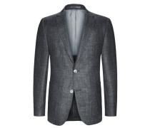 Sakko im Schurwoll-Mix, strukturiert, E.Thomas von Tom Rusborg Premium in Grau für Herren