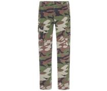Cargo-Chinohose in Camouflage-Optik, Slim-Fit von Denim & Supply Ralph Lauren in Gruen für Herren