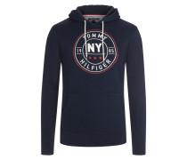 Kapuzen-Sweatshirt in reiner Baumwolle von Tommy Hilfiger in Marine für Herren