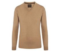 V-Neck Pullover aus 100% Kaschmir von Tom Rusborg Premium in Natur für Herren