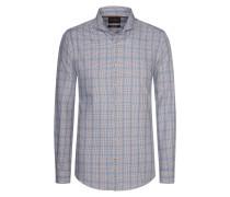 Kariertes Freizeithemd, Modern-Fit von Tom Rusborg Premium in Blau für Herren