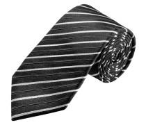 Schmale Streifen-Krawatte von Olymp in Anthrazit für Herren