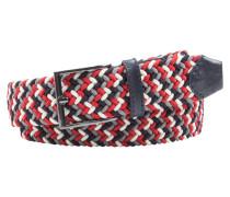 Stretch-Gürtel, multicolour von Tom in Rot/blau/weiss für Herren