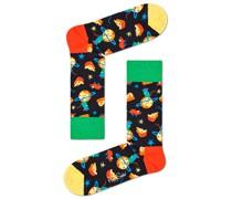 Socken mit modischem Motiv